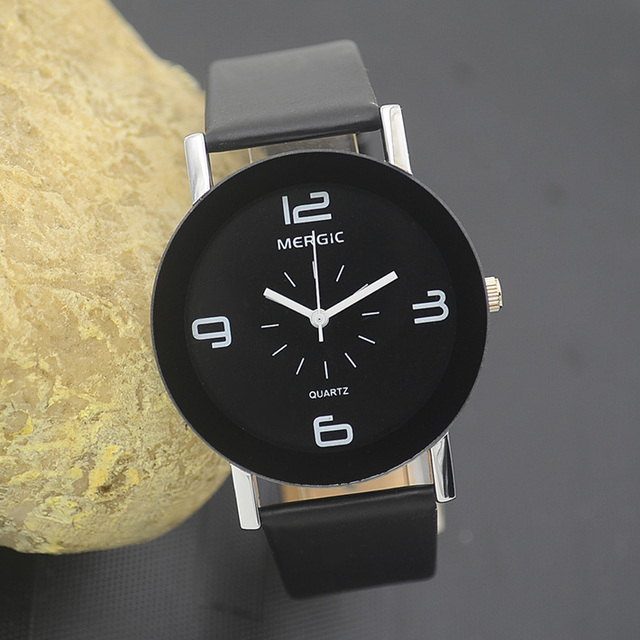 Black And White Arabic Men Unisex Fashion Watch Women Dress Caual Gift Lady Girl Child Kids Simple Wristwatch Hour New Hot Nice