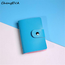 ChengEVA 1PC 100% brand new Women's Fashion Men Women Leather Credit Card Holder Case Card Holder Wallet Business Card Nov 1(China (Mainland))