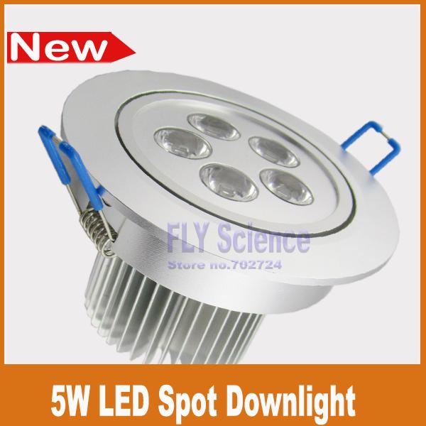 2pcs/lot 5W LED ceiling spotlights 550lm Energy saving recessed spot down lamp AC85-265v