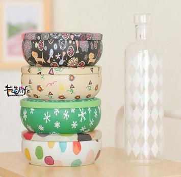 Fashion exquisite metal storage box tin can cookie jar wedding candy box 5pcs/lots mix color free shipping(China (Mainland))