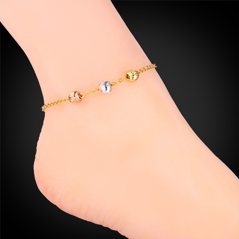 Gold <font><b>Anklets</b></font> For Women Foot Jewelry Fashion Jewelry 18K Gold Plated Ball Cute <font><b>Anklet</b></font> Bracelet On A Leg Bracelet A946 A943