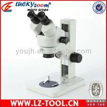 Envío gratis! SZM7045 + WF10X20 + 8 w + 0.5x + b4.3. 5X-45X 8 w luz de funcionamiento del microscopio olympus microscopio de luz