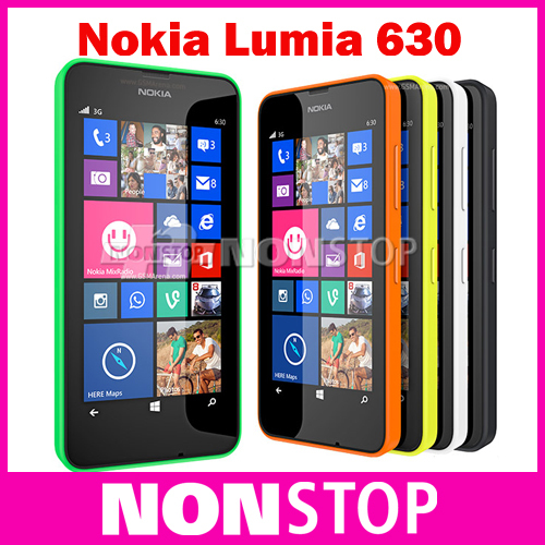 630 Original Nokia Lumia 630 Cell Phones Windows Phone 8.1 Snapdragon 400 Quad Core 1.2GHz IPS 512MB+8GB Dual Sim 3G WCDMA(China (Mainland))