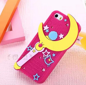 Sailor Moon Case Cover iphone 5 5S 5/5S Cell Phone Cases 3D Cute Cartoon Silicone Fashion Luxury 2015 - Beauty Mobile store