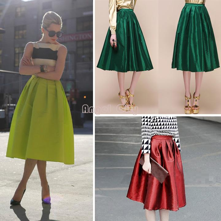 Womens Flared Skirts - Skirts