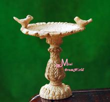 Dolls Toys For Girls GARDEN BIRD STATUE Fountain 1:12 Dollhouse Miniature Furniture(China (Mainland))