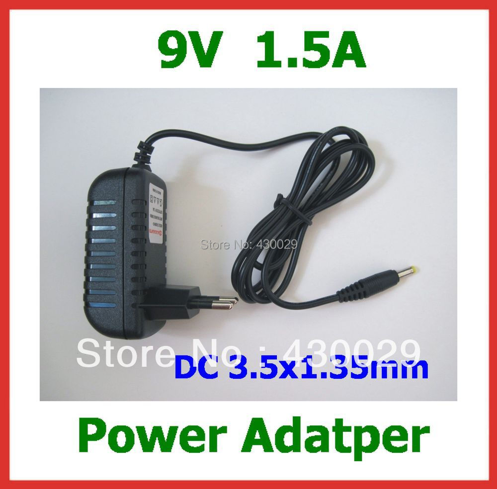 9V 1.5A DC 3.5x1.35mm / 3.5*1.35mm Charger EU US Plug Power Adapter Supply for Tablet PC 7 inch VIA 8650 etc(China (Mainland))