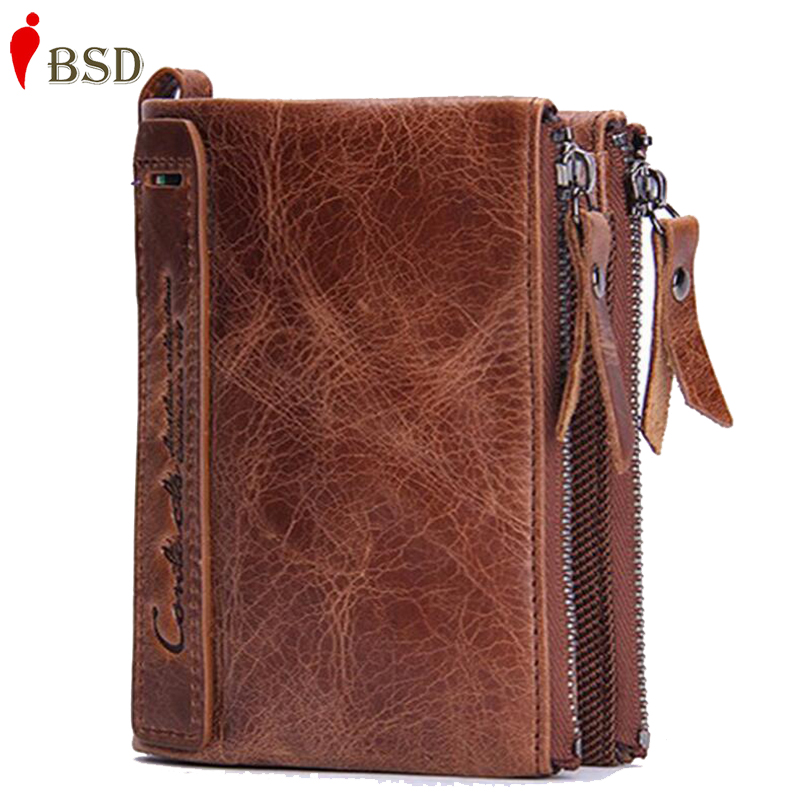 Brand men wallets dollar price purse Genuine leather wallet card holder luxury designer clutch business mini wallet high quality(China (Mainland))