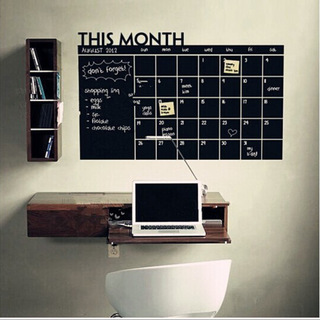 Creative Blackboard Wall Decal Sticker This Month Wall Art Mural Decor Chalkboard Poster Month Each Day Memo Board Graphic(China (Mainland))