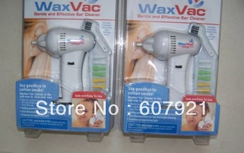 BIG DISCOUNT Waxvac Ear Vacuum Cleaner Soft Wax Remover Wax Vac tool  retail package 50packs/lot Freeshipping