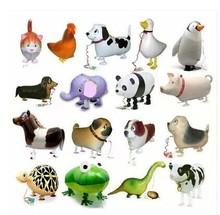 50 PCS/lot  animals walking pet balloons children's toys Hybrid models of animal balloons foil balloon(China (Mainland))