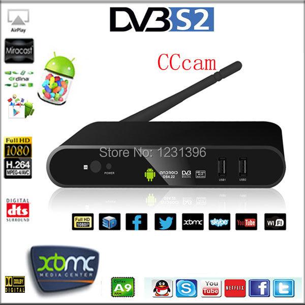 CCcam,Dual core Aml8726-MX,smart tv box DVB-S2 tuner Set Top box,Android tv box DVB S2 Satellite receiver,XBMC Player,c/ku band(China (Mainland))