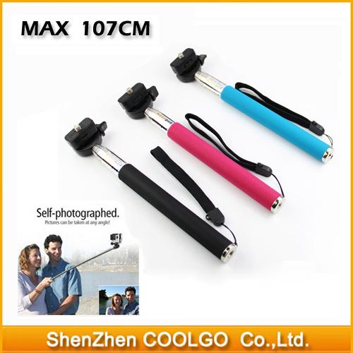 Gopro Accessories Extendable Handheld Aluminum Alloy Flexible Telescopic Monopod Tripod Holder for GoPro Hero1 2 3 SJ4000 SJ5000(China (Mainland))