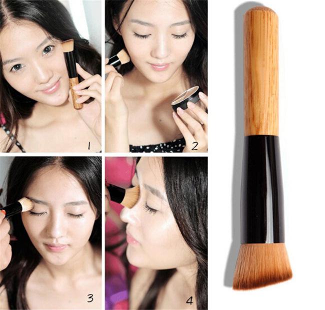 5 pcs/lot Professional Multifunctional Makeup Brush Foundation Featured tilted Top hair powder Cream Blush Brush maquiagem(China (Mainland))