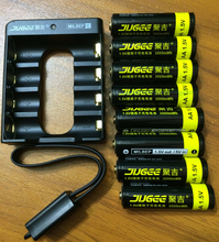 jugee 8pcs 1.5v  lithium  AA rechargeable 3000mWh Li-polymer li-ion polymer lithium battery +1 USB Charger(China (Mainland))