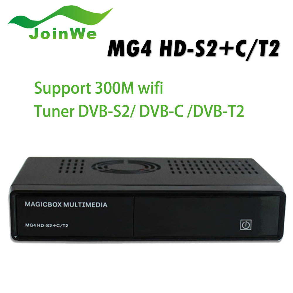 Magicbox MG4 HD Satellite Receiver DVB-S2 Support DVB-C and DVB-T2 with WIFI(China (Mainland))