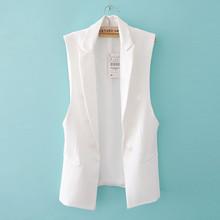 Long Vest Jacket Women Sleeveless Blazer Feminino Quilted Vests Famous Brand Veste Femme Fashion Button Vest Outwear ow0114(China (Mainland))