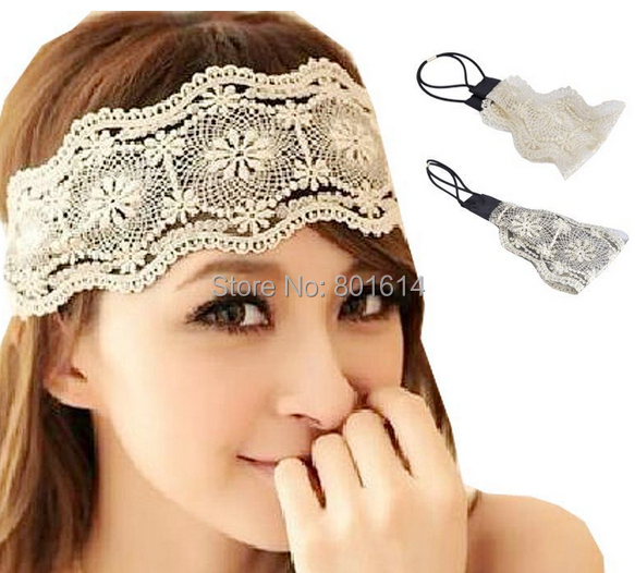 New Sexy Womens Girls Hairband Hair Accessories Lace Headband Retro Hair Band Wide Headwraps Accessories > Hair Accessories(China (Mainland))