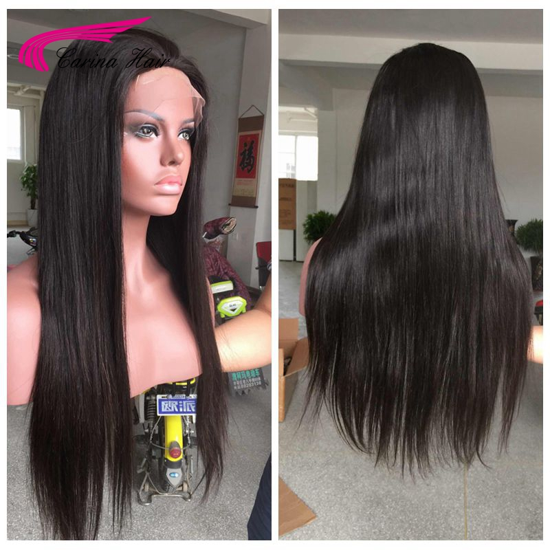 Natural black or blonde Full Lace Wigs Malaysian Virgin Human Hair Glueless Wigs 613 front lace wig glueless with bleached knots