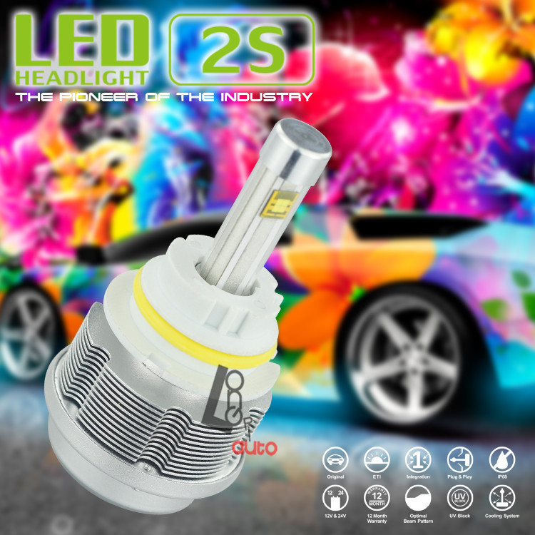1Set 2S XENON 9004/9007 Pack 2 LED BULBS 30W HIGH POWER QUALITY UPGRADE HEADLIGHT 3600LM - Maylin Autoparts store