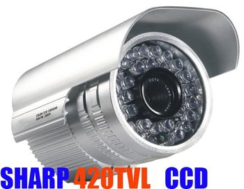 Waterproof 36 LED Sharp 420TVL IR Color CCD CCTV Camera  + POWER + BRACKET