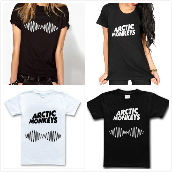Arctic Monkeys Letters Print Women Tshirt Cotton Casual Shirt For Lady White Black Top Tee Big Size Hipster HH503-455(China (Mainland))