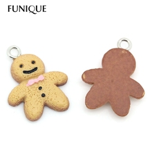 20PCs Resin Charm Pendants For Necklace Women Jewelry Making Christmas The Gingerbread Man Pendant suspension 21mmx16mm(China (Mainland))