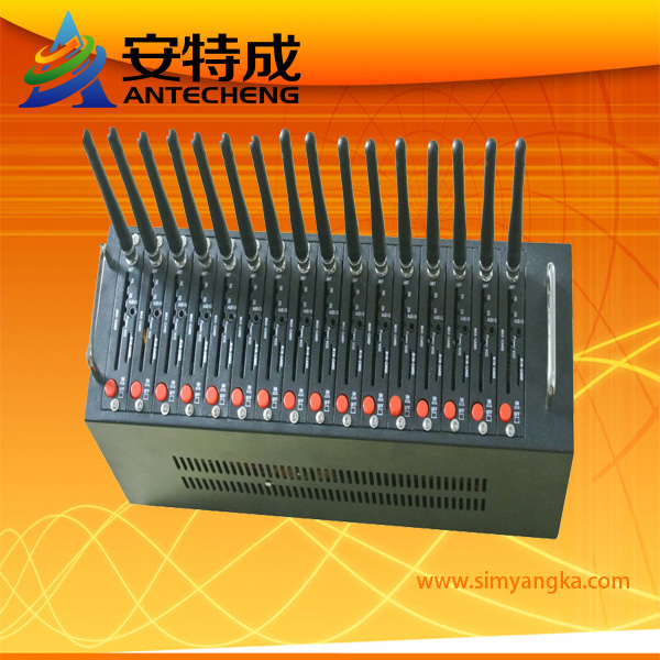 Hot selling 16 port modem pool with dual band 900/1800mhz mc52i for bulk sms sending(China (Mainland))