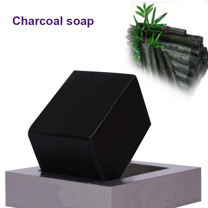 100g 3 pieces Exfoliating soap remove black spot best handmade skin whitening Charcoal soap(China (Mainland))
