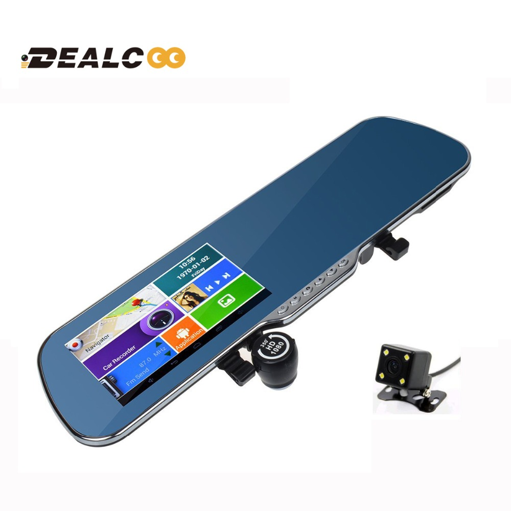 """2016 New 5.0"""" Touch Android Bluetooth dash camera parking car dvr Rearview mirror video recorder Vehicle gps Navigator Free maps(China (Mainland))"""