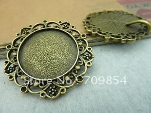 Здесь можно купить   !!! 100pcs/lot 25mm pad brass filigree cab base setting wraps jewelry findings  Ювелирные изделия и часы