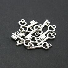 Top Verkauf 7*20mm 10 teile/los Tibetischen Silber Überzogene Schlüssel Alloy Charms & Anhänger Schmuck Erkenntnisse AD-7190(China (Mainland))