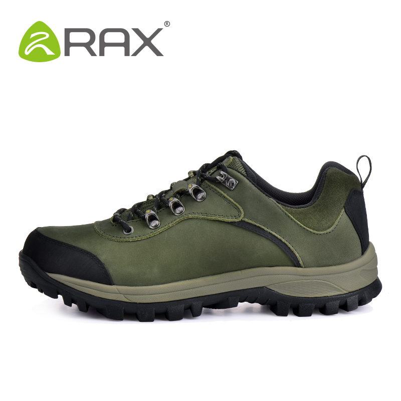 Rax Genuine Leather <font><b>Shoes</b></font> Men Surface Waterproof Breathable Outdoor <font><b>Hiking</b></font> <font><b>Shoes</b></font> Men Women Climbing Walking Trekking <font><b>Shoes</b></font> Women