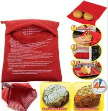 Red Washable Potato Cooker Bag Microwave Cooking Potato Oven Baked Potatoes In Just 4 Minutes Useful Cooking Tool for Women(China (Mainland))