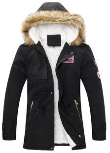 2014 New fashion men winter coat men's cotton padded warm jacket parka long hooded fleece men down plus size 6 colours 9.29-22(China (Mainland))