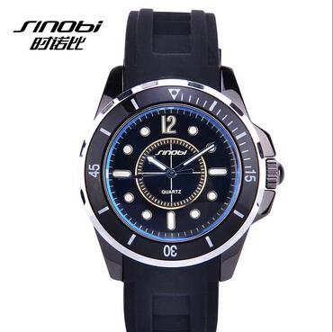 2015 Racing Designer Men Quartz Watch Fashion Luxury Brand SINOBI Rubber Strap Analog Man Sport Wrist Watches Relojes Hombre(China (Mainland))