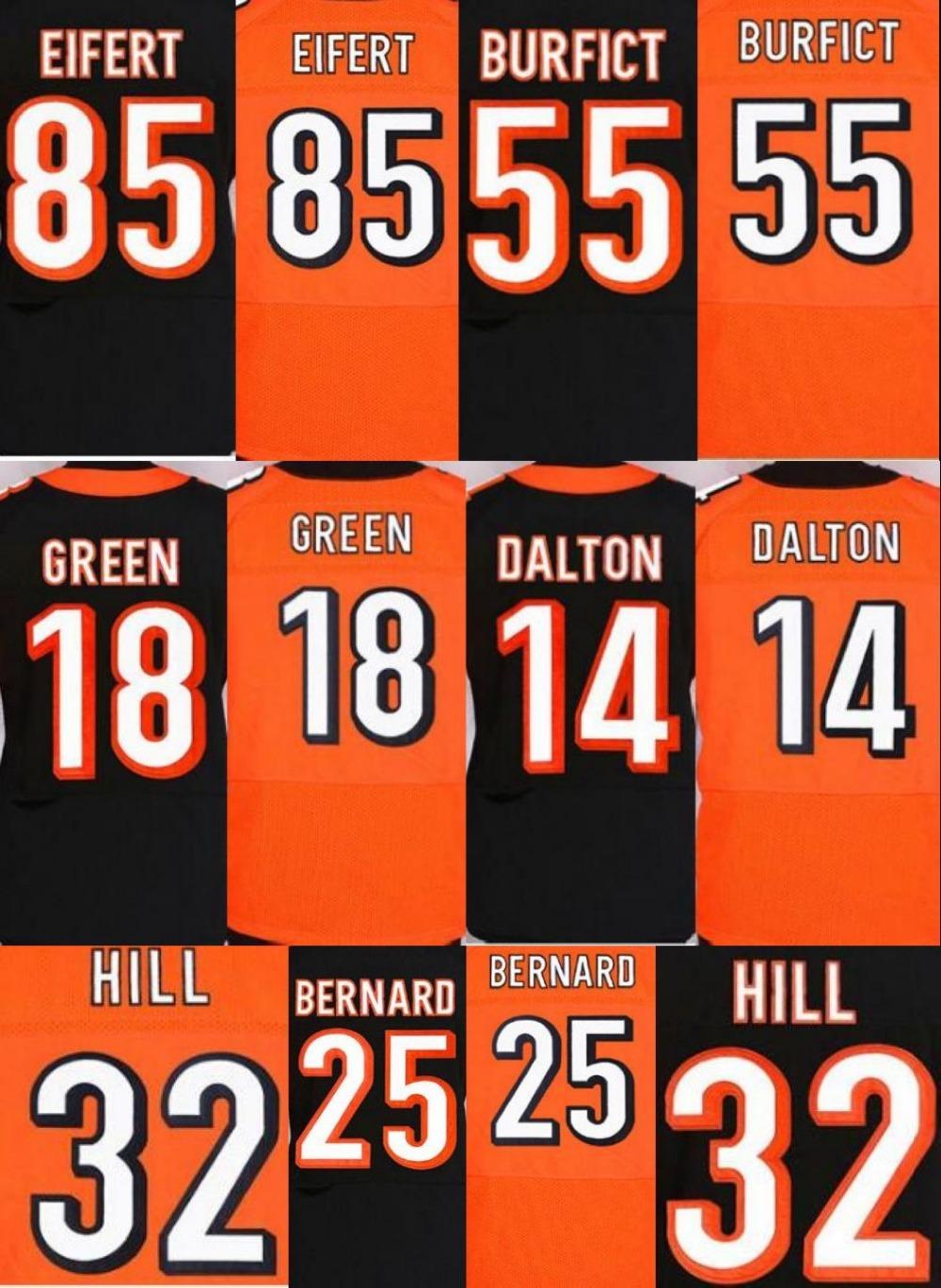 NEW arival #14 Andy Dalton jersey 18 A.J. AJ Green 55 Vontaze Burfict 25 Giovani Bernard 32 Jeremy Hill 85 Tyler Eifert jersey(China (Mainland))