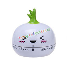 Buy Cartoon Mini radish Kitchen Egg Timer Alarm Clock 60 Minutes Cute Vegetables Cooking Mechanical Dial Home Decor Tools for $2.68 in AliExpress store