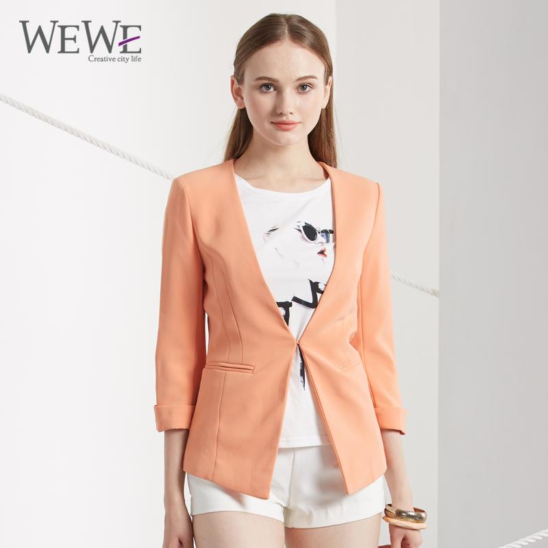 Fashion Elegant Business Formal Office Suits Wear Women Basic Coats Three Quarter Sleeve Pink Blazer Suit Jacket Women D41903(China (Mainland))