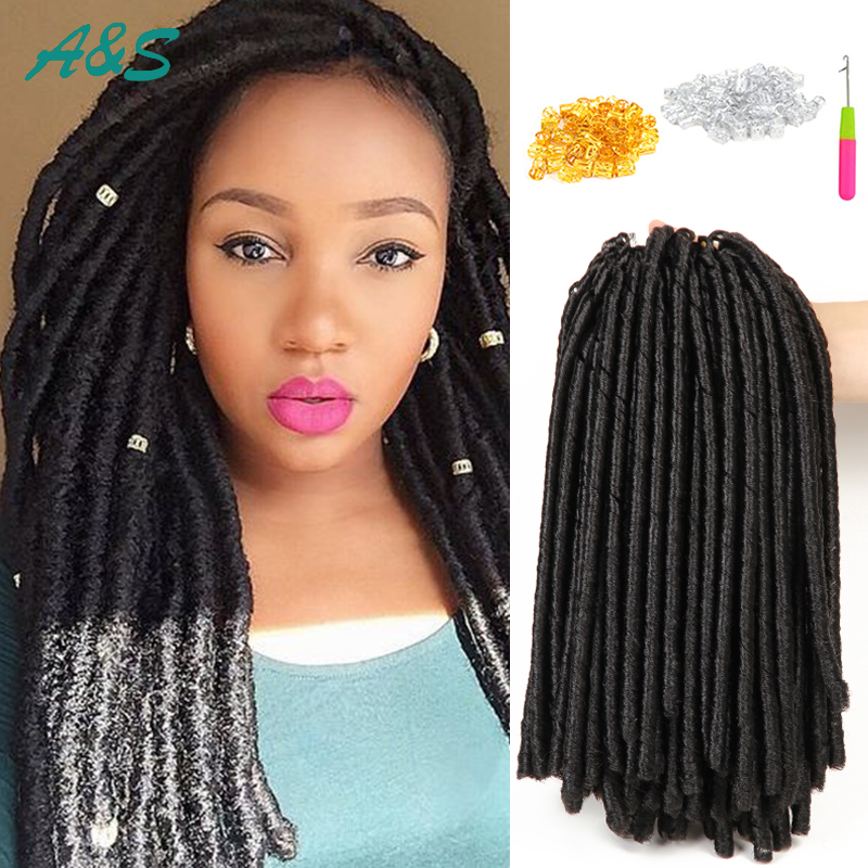 faux locs crochet hair extentions 14 ombre braids locs synthetic hair ...