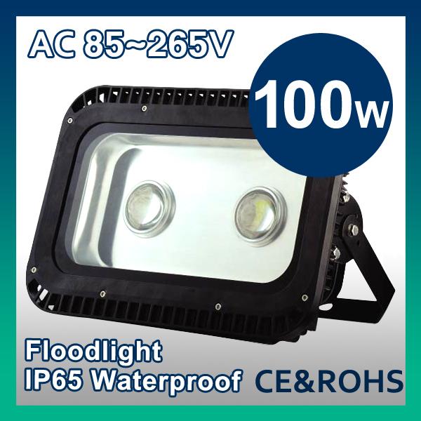Free Shipping 2pcs/lot 100W LED Floodlight  High Power LED Flood Lights AC 85V-265V 2 Years Warranty CE&RoHS