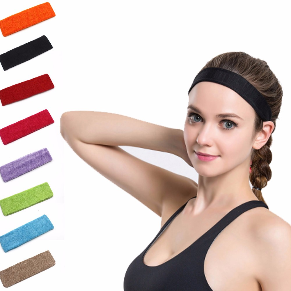 Basketball Head Band Cotton Thick Sport  Sweatband Headband Yoga Tennis Badminton Basketball Gym Stretch Head Band Hair