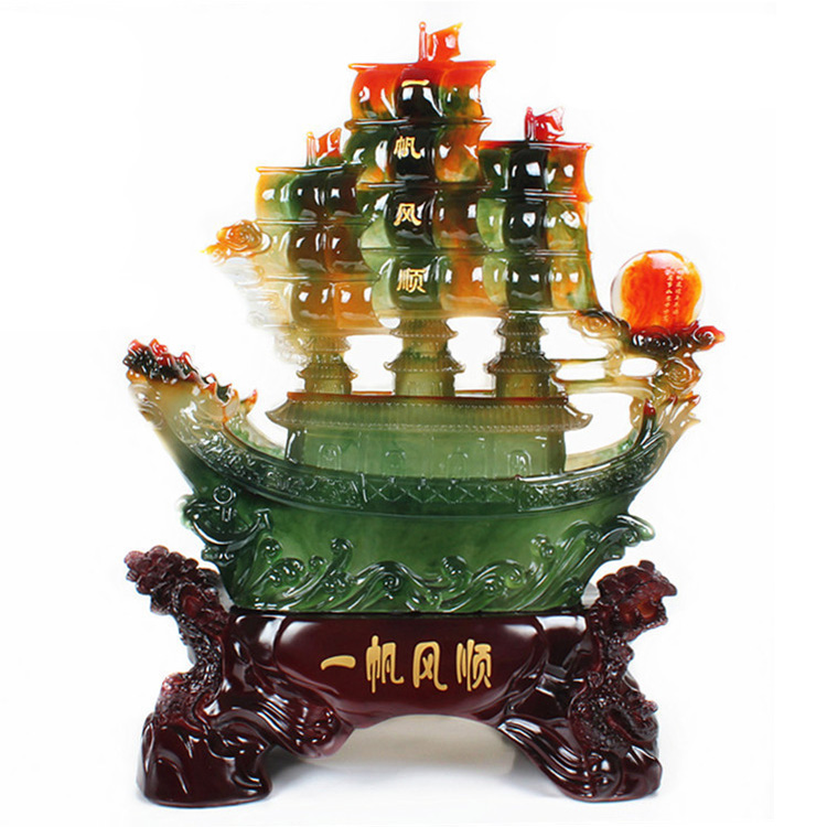 Opening gifts ornaments smooth sailing boat Queen Decoration Office Decoration opened gift shop(China (Mainland))