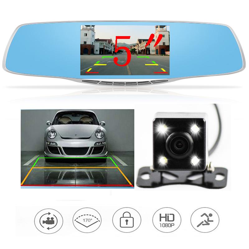 car camera rearview mirror auto dvrs cars dvr dual lens dash cam recorder video registrator camcorder full hd1080p night vision(China (Mainland))