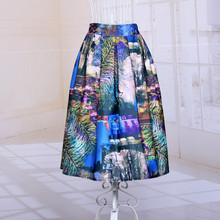 New Arrival 2016 Women High Waist Fashion Style Casual Summer Style Pleats Vestidos Pleated Skirt DP099