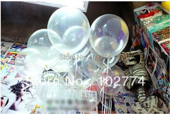 100pcs/lots Free shipping wholesales 12 inch clear balloons ,transparent balloons , wedding/party/brithday decoration