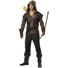 free shipping Mens Robin Hood Prince Of Thieves Peter Pan Fancy Dress Costume M L 2XL  without pants(China (Mainland))