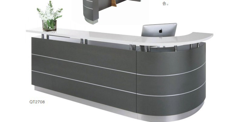 hospital dental center clinic curved marble reception desk counter