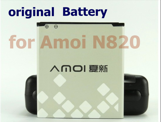 China Post Airmail free shipping, Original Li-ion rechargable 2050mAh Battery for Amoi N820 n820 Phone