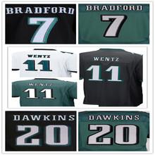 Philadelphia Eagles ,Men's11 Carson Wentz 7 Sam Bradford 20 Brian Dawkins 43 Darren Sproles elite s,White,Green,Black(China (Mainland))